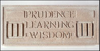 Prudence Learning Wisdom, Frank Lloyd Wright Larkin Plaque