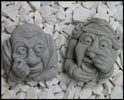 Monk & Maiden Wall Plaque Gargoyle (Set of Two)