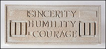Sincerity Humility Courage, Frank Lloyd Wright Larkin Plaque