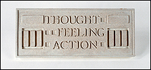 Thought Feeling Action, Frank Lloyd Wright Larkin Plaque
