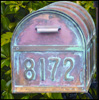 Brass House And Mailbox Numbers