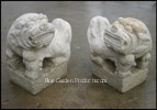 Antique Style Foo Dog Pair, 18 Inch