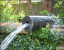 Granite Cylinder Wall Fountain or Swimming Pool Spout Spigot