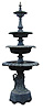 Four Tier Cast Aluminum Fountain
