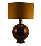 Mocha Recycled Glass Table Lamp by Lamp Works