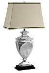 Cast Aluminum Tiered Rectangle Urn Table Lamp by Lamp Works