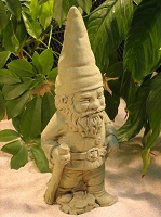 Cobnab Hiking Gnome Cast Sculpture