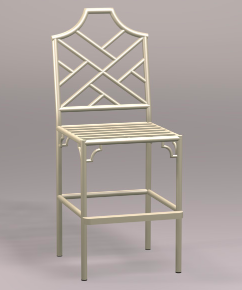 Chinese Chippendale Counter Stool