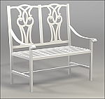 43.5 Inch Yorkshire Two Seater Garden Bench