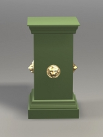 Outdoor Garden Lions Mask Plinth or Pedestal