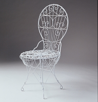 Outdoor Garden Victorian Wire Side Chair