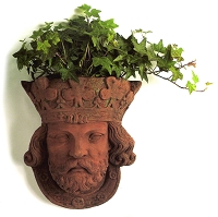 King Louis Terracotta Wall Planter