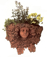 Lady Leaf Motif Terracotta Wall Planter