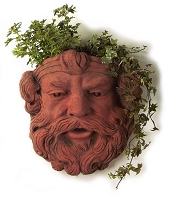 Bavarian Mask Terracotta Wall Planter