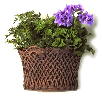 Basket Weave Terracotta Wall Planter