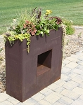 Square Recycled Metal Eco Friendly Window Box Planter