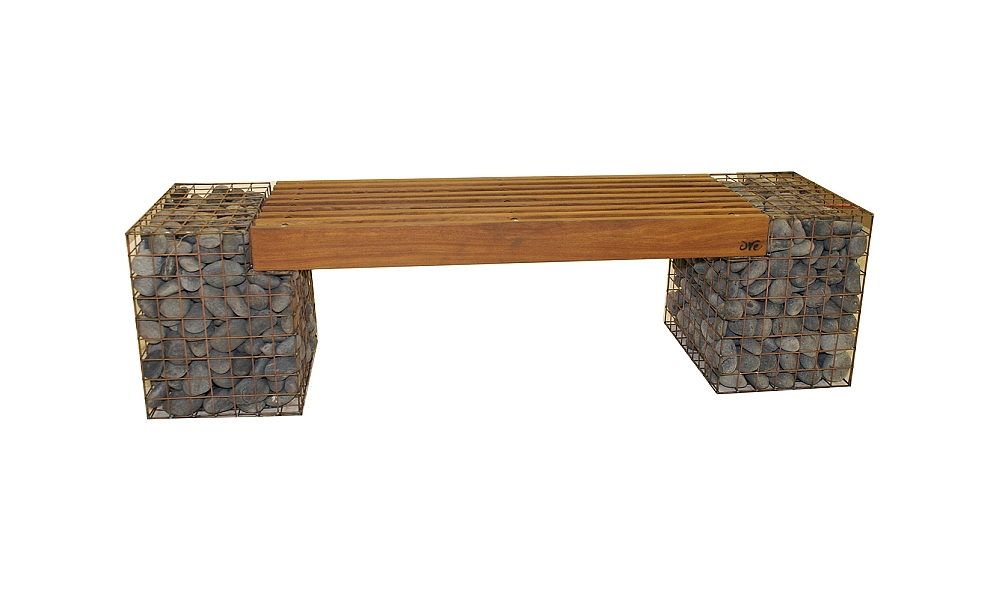 Recycled Eco Friendly Gabion Steel Bench