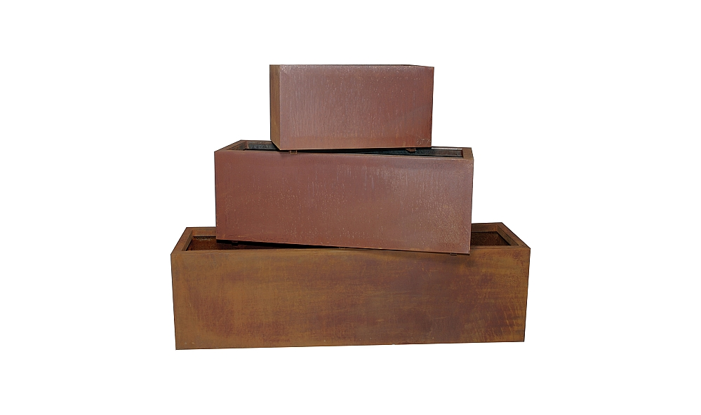 Low 60 Inch Recycled Metal Eco Friendly Modular Planter