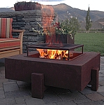 Recycled Metal Eco Friendly Square Fire Pit