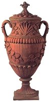 34 Inch Estate Tuscan Terracotta Urn With Lid