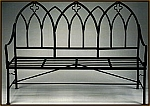 Wrought Iron Gothic Garden Bench