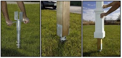 Ground Screw Post Holder
