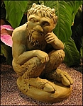Satyr Gargoyle Statue Sculpture Cast In Stone