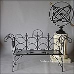 Chateaux Garden Wire Bench