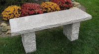 48 Inch Coral Polished Granite Garden Bench