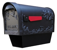 Hummingbird Cast Aluminum Mailbox with Newspaper Tube