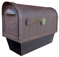 Classic Cast Aluminum Mailbox with Newspaper Tube