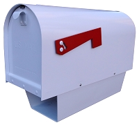 Titan Curbside Cast Aluminum Mailbox with Newspaper Tube