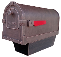 Savannah Curbside Cast Aluminum Mailbox with Newspaper Tube