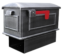 Traditional Curbside Cast Aluminum Mailbox with Newspaper Tube
