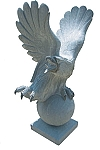 Granite Stone Eagle On Globe Pair