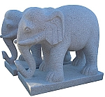 Granite Stone Indian Elephant Pair