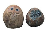 River Pebble Owl Family of Four