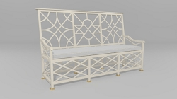 Chippendale 3-Panel Starback Bench