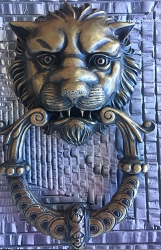 Cecil Lion Solid Bronze Estate Door Knocker