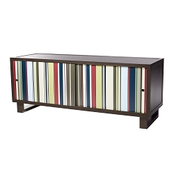 Color Bar Credenza/Media Console, Gray/Acrylic