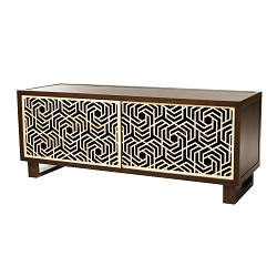 Hexagon Credenza/Media Console, Espresso/Natural