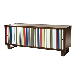 Color Bar Credenza/Media Console, Espresso/Acrylic