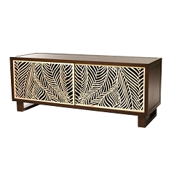 Wispy Palm Credenza/Media Console, Espresso/Natural