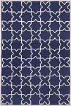 24 Inch X 36 Inch Capri Hand Tufted Moroccan Tile Navy Outdoor Area Rug