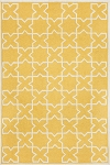 24 X 36 Capri Hand Tufted Moroccan Tile Yellow Outdoor Area Rug