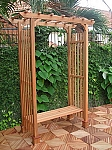 Rosedale Eco Friendly Wood Outdoor Arbor and Bench