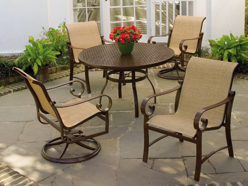 Cast aluminum used cast aluminum dining set for Used patio dining sets
