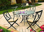 Boynton Wrought Iron Patio Dining Set