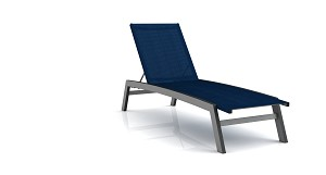 Biscayne Aluminum Frame Chaise Lounge Chair