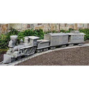 Civil War Locomotive Garden Train Planter Set